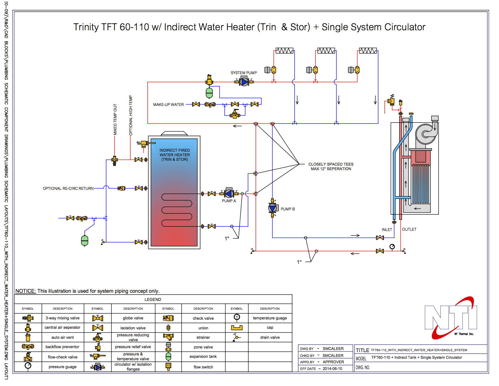 Multiple Heaters And Water Storage Tank Piping Diagram Engine Heater Indirect Wiring Hot
